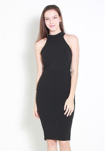 Leline Style black Alinia Black Dress LE802AA90FYZSG_1