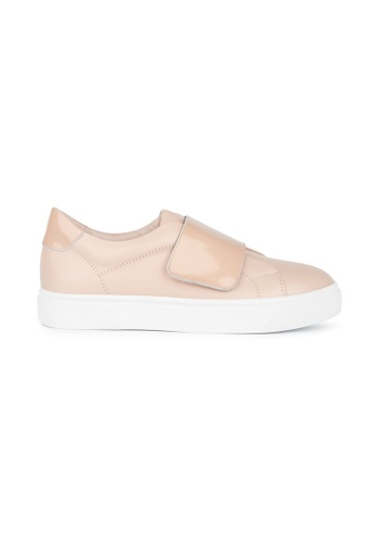 MAUD FRIZON pink Calf Leather Sneaker With Velcro Strap 3A3FDSH4CE1E38GS_1