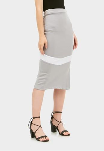 RAOFE grey Adamantine Skirt BE47EAA6DA526DGS_1