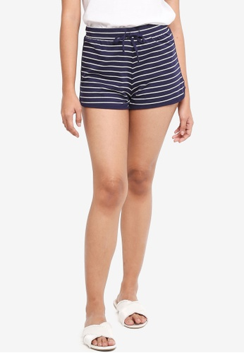 Dorothy Perkins navy Navy Stripe Jersey Shorts B9A92AAB64C358GS_1