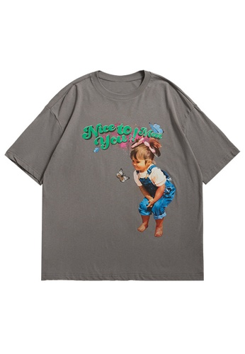 Twenty Eight Shoes Trend Printed Short T-shirt 1537S21 F1703AA421C5E0GS_1