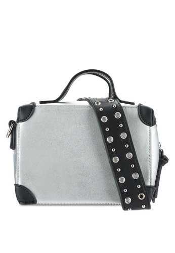 Something Borrowed silver Small Top Handle Bag With Metal Detail Strap E7BE0ZZ50BE875GS_1
