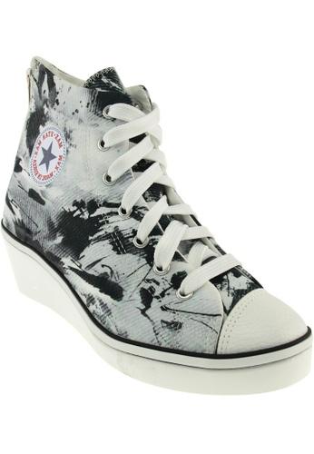 Maxstar black Maxstar Women's N7H Zipper Canvas Low Wedge Heel Sneakers Printed MA164SH86PQZSG_1