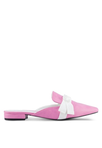 Something Borrowed pink Ribbon Slip-on Flats D4476SHC27EF60GS_1