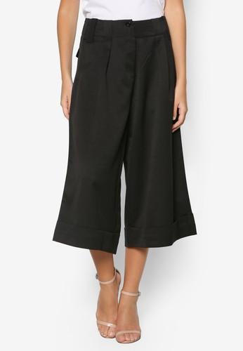素色喇zalora 衣服尺寸叭七分褲, 服飾, 長褲及內搭褲