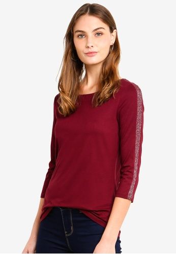 ESPRIT red 3/4 Sleeve T-Shirt 20E65AA3E5DE8AGS_1