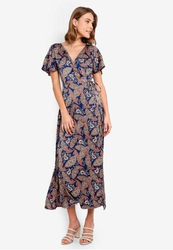0b0bec66c1 Buy Vero Moda Paisley Maxi Wrap Dress Online on ZALORA Singapore