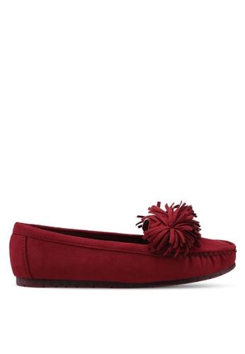 Noveni red Tassled Loafers 538A9SHF118E0DGS_1