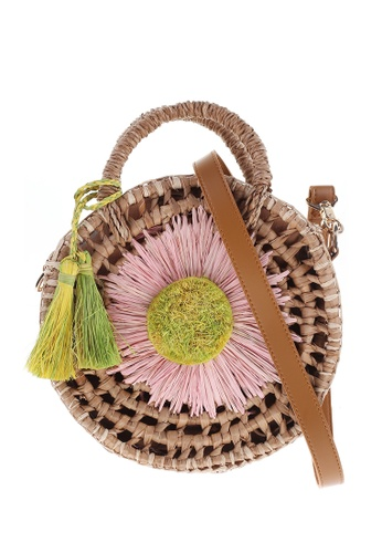 Style Cat brown and pink Tokyo Handmade Woven Daisy Sling A2784AC7712DF2GS_1