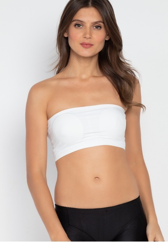 Golden Ticket Super Savers white Seamless Bandeau Tube Bra A8C22US7A3AE8EGS_1