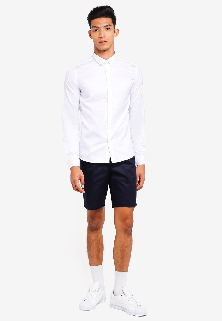 Dobby white Double Shirt AT Collar TWENTY qYY0SRx
