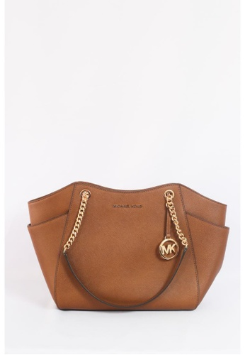 MICHAEL KORS brown Michael Kors Jet Set Travel Large Chain Shoulder Tote In Luggage 7D0AFAC3AE95E1GS_1