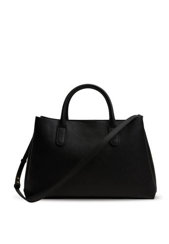 Mango black Shopper Bag With Handles 390BEACCF0F573GS_1