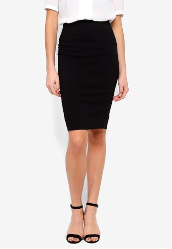 FORCAST black Rose Pencil Skirt C64C6AA66F34A5GS_1