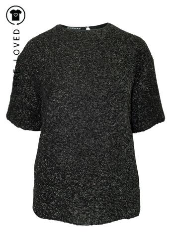 Rochas black Pre-Loved rochas Shimmery Black Top 9F746AADF59089GS_1