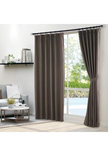 Epitex brown Epitex Luxury GRA200-2 Ready Made Curtain (Cocoa) 75FF4HLBF759C9GS_1