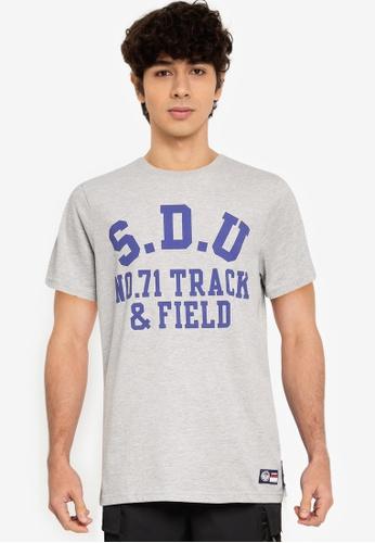 Superdry 灰色 T&F T恤 9B261AA56EB503GS_1