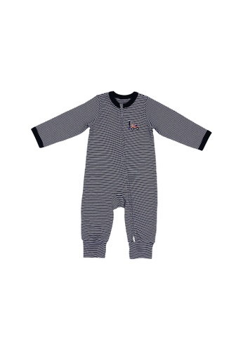 Baby Lovett multi Little Crane Two-Way Zipper Suit 8C36EKA6BE546DGS_1