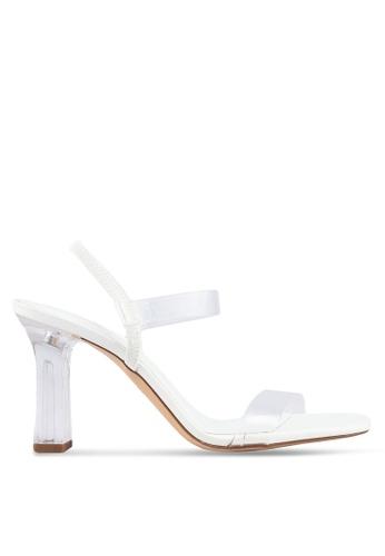 Mango white Geometric Heel Sandals 444B2SH707CEA8GS_1