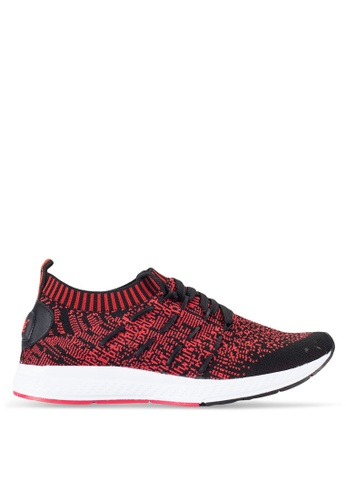 Louis Cuppers red Knitted Sneakers LO977SH06REBMY_1