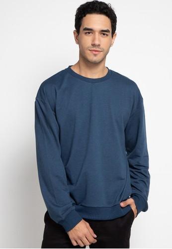 Tolliver blue Basic Sweatshirt 61DE6AAFE582D4GS_1