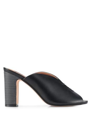 ZALORA black Front Stitch Detail Heels 91B11SH847B774GS_1