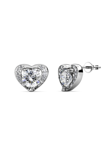 Her Jewellery silver Forever Earrings - Licensed Genuine Crystals from Swarovski® HE581AC0RDQSMY_1