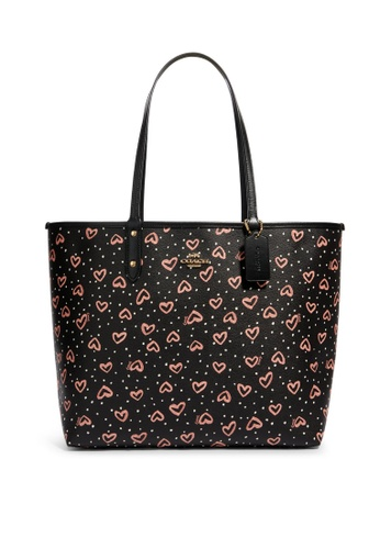 Coach black and pink Reversible City Tote Bag (cv) D6578ACABB213EGS_1