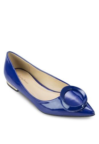 扣環漆面尖頭平底鞋,esprit outlet 台中 女鞋, 芭蕾平底鞋