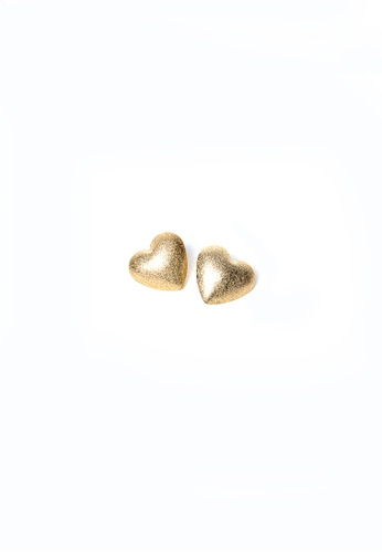 Limkokwing Fashion Club gold Heart Shape Earring LI086AC27VZOMY_1