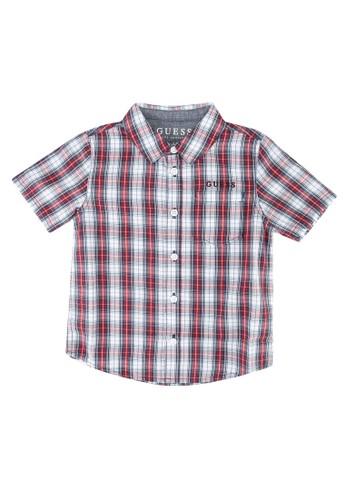 Guess multi Y/D Check Short Sleeve Shirt 33394KAAB02236GS_1