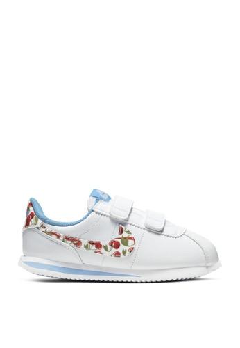 Nike white Cortez Basic SL SE Sneakers 87B0CKSE9ABB53GS_1