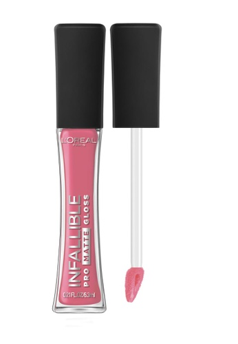 L'Oréal Paris pink L'Oreal Paris Infallible Pro-Matte Liquid Lip Gloss - 300 Blushing Ambition 153ACBE489E7B0GS_1