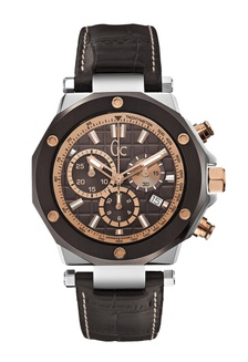 GC Guess Collection Jam Tangan Pria - Brown Silver Gold - Leather Strap -  X72018G4S GU977AC0UN3DID 1 c9b7486719