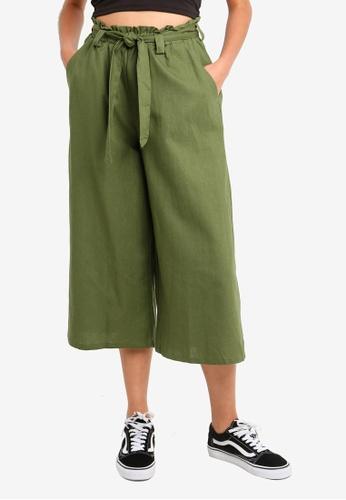 Cotton On green High Waist Culottes C5A4AAAE91B1C4GS_1