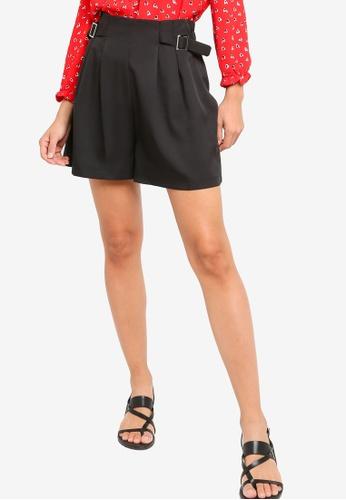 Something Borrowed black High Waist Pleated Bermuda Shorts 24147AAF5384B9GS_1