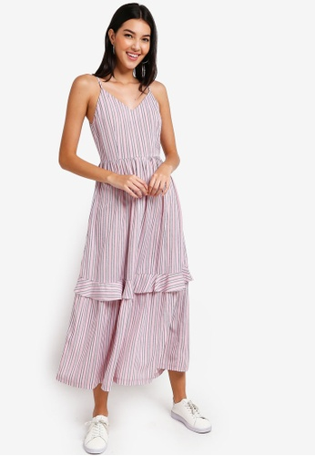 ZALORA pink and multi Strappy Maxi Dress 228B0AA034D6AAGS_1