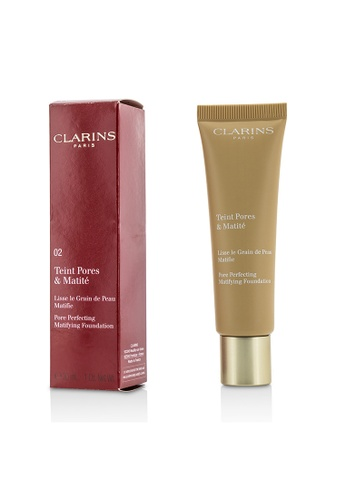 Clarins CLARINS - Pore Perfecting Matifying Foundation - # 02 Nude Beige 30ml/1oz F7150BE87F19BEGS_1