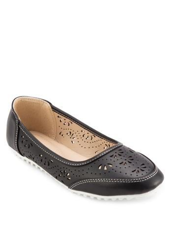 雕花沖孔休閒懶人鞋, 女鞋,adl esprit 鞋