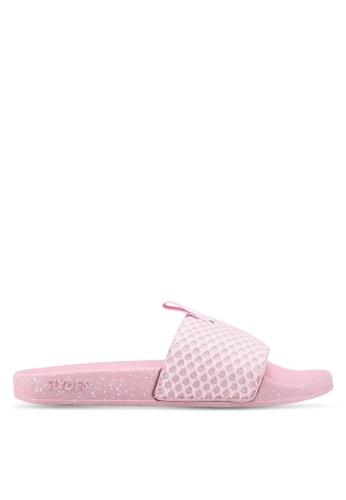 Slydes 粉紅色 潑墨風拖鞋 31AE2SHCDDF2F5GS_1