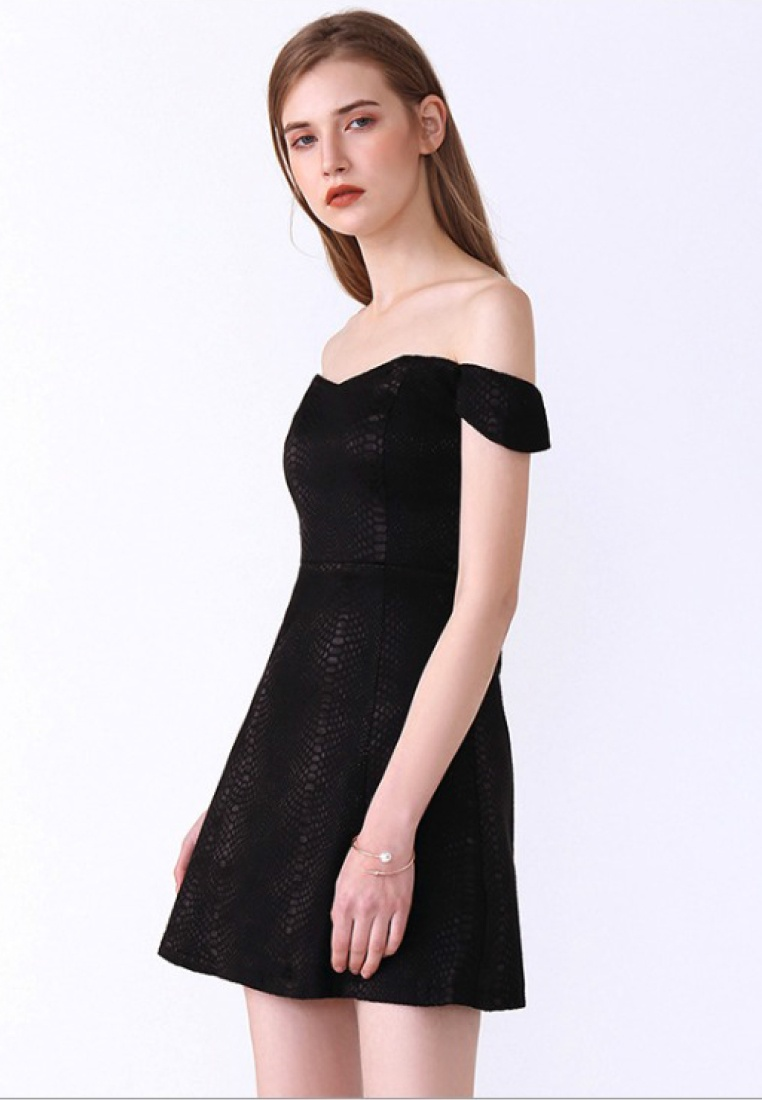 Black Dress Black New Piece One A060419BK 2018 Shoulder Sunnydaysweety Off Sweetheart Style Ppq5nd8xw