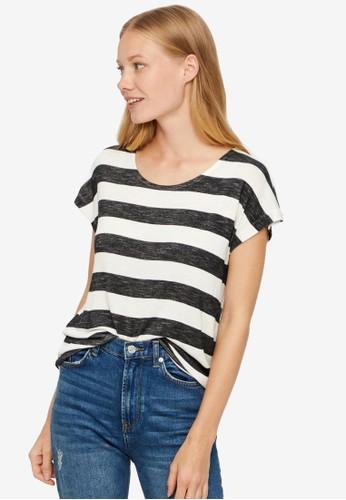 Vero Moda white Wide Stripe Top 3E9AFAA1424185GS_1