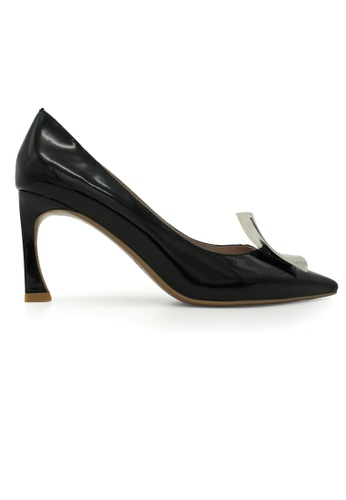 Gripz black Cate Pointed Toe Patent Leather Heels GR357SH0F38MSG_1