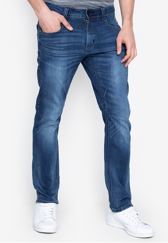 b0f44c6f85 Men's Low Waist Basic Five Pocket Slim Tapered Jeans In Enzyme Stone Wash