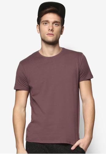 修身基本款圓領TEE, 服飾,esprit hk outlet T恤