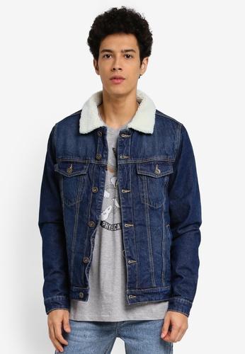 Cotton On blue Borg Denim Jacket 73EAFAAB724E65GS_1