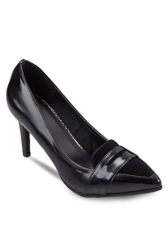 CELINA 仿esprit 旺角皮尖頭高跟鞋, 女鞋, 鞋
