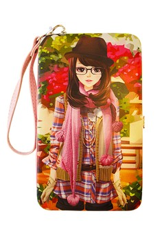 Cool Princess Universal Mobile Case / Wallet Card Holder