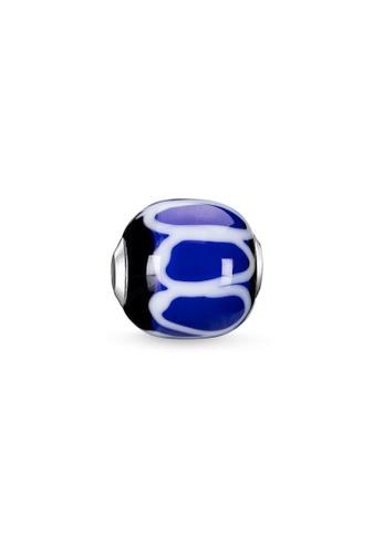 "THOMAS SABO silver Bead ""Glass Bead Blue, black, white"" E7BE8ACFE43EADGS_1"