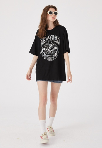 Twenty Eight Shoes Trend Printed Short T-shirt HH0201 46558AAABE781BGS_1